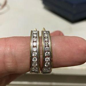 1/2 karat diamond earrings